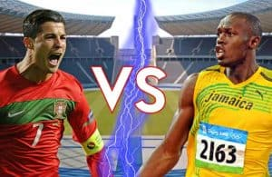 Cristiano Ronaldo vs Usain Bolt