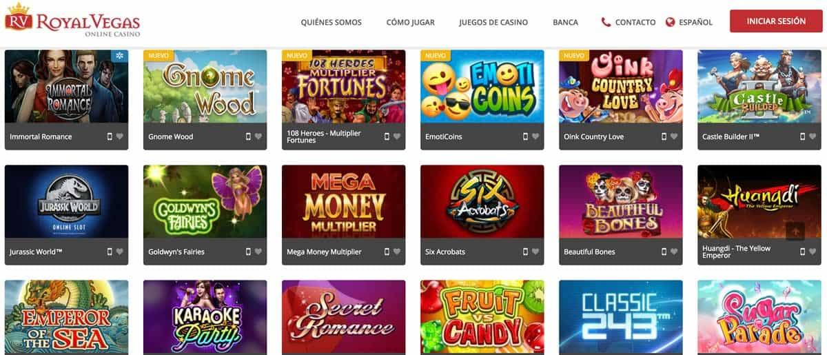 Juegos Casino Royal Vegas