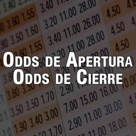 Odds de apertura y odds de cierre en las apuestas