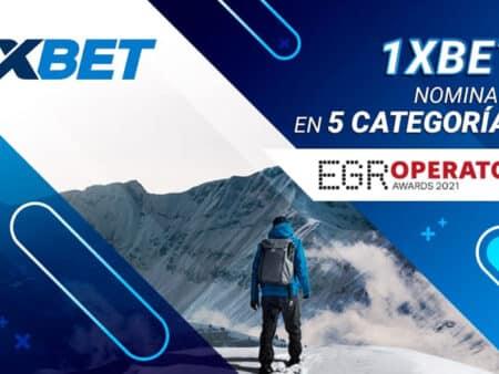 1xBet nominado en 5 categorías de los prestigiosos premios EGR